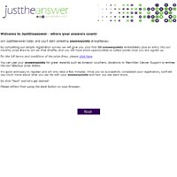 JusttheAnswer Surveys Website